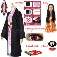 Косплей-костюм для взрослых женщин, парик из аниме «рассекающий демонов», киметасу, камадо, незуко