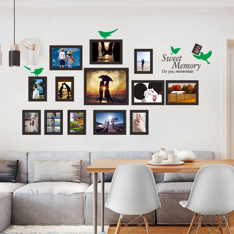 US $11.58 |% DIY blank photo frame wall sticker photo wall home decoration  living room bedroom wall decoration pvc self adhesive paper on AliExpress