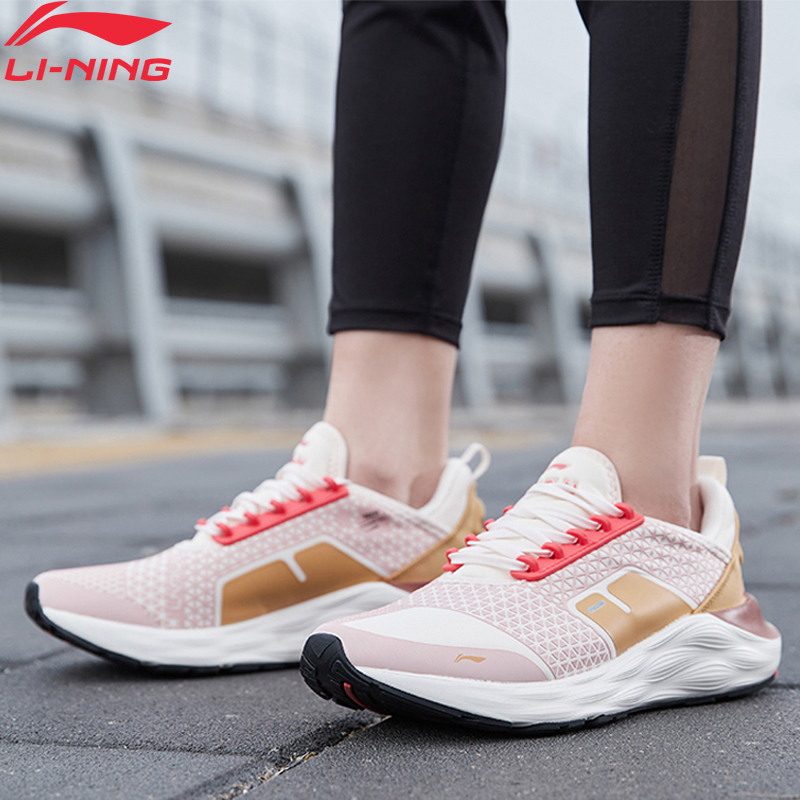 Li-Ning Women LINING CLOUD 6 Cushion Running Shoes DRIVE FOAM Bounce LiNing Li Ning Wearable Sport Shoes Sneakers ARHQ064 XYP966