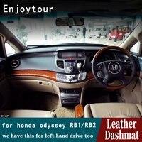 Para Hond Dashmat RB1 RB2 Odyssey 2004 2005 2006 2007 2008 Couro Cover Dashboard Pad Traço Mat Tapete Do Carro Styling acessórios|Tapete anti-sujeira p/ carros| |  -