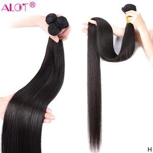 8 - 40 Inch Brazilian Straight Hair Bundle 100% Human Hair Weave Bundles Remy Hair Extensions 1 3 4 Bundles Alot