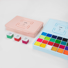 MIYA HIMI Gouache watercolor Paint Set 24 Colors * 80ml Unique Jelly Cup Design Portable Case with Palette for Artists Students