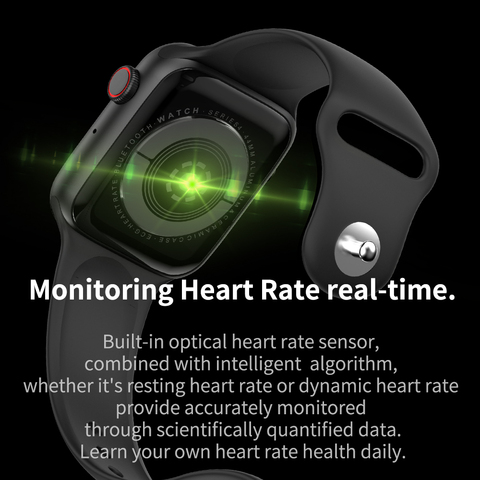 IWO 10 Smart Watch Men Women 44mm 1.54 inch ECG Heart Rate Monitor Sport Activity Tracker Relogio Smartwatch W34 PK IWO 8 Plus Karachi