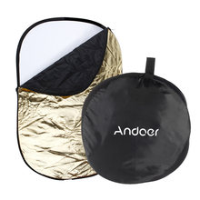 Andoer 60 * 90cm 5 in 1 (Gold, Silver, White, Black, Translucent) Portable Collapsible Studio Photo Photography Light Reflector(China)