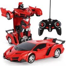 Новинка, 2 в 1, Радиоуправляемая машинка, игрушка, трансформация, роботы, вождение автомобиля, спортивные модели автомобилей, Радиоуправляемая машинка, игрушка в подарок для мальчиков