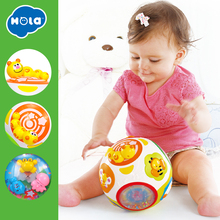 HOLA 938 Baby Toys Toddler Crawl Toy with Music & Light Teach Shape/Number/Animal Kids Early Learning Educational Gift