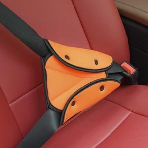 Image 2 - רכב כיסוי חגורת בטיחות בטיחות תינוק ילד הגנת חסון מתכוונן משולש בטיחות חגורת בטיחות כרית קליפים רכב סטיילינג רכב אבזר
