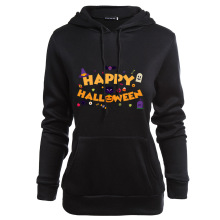 happy halloween sweatshirt womens plus size oversized hoodie korean vintage print pullovers cotton gothic hoodies harajuku plus size halloween moon bat print hoodie with pocket