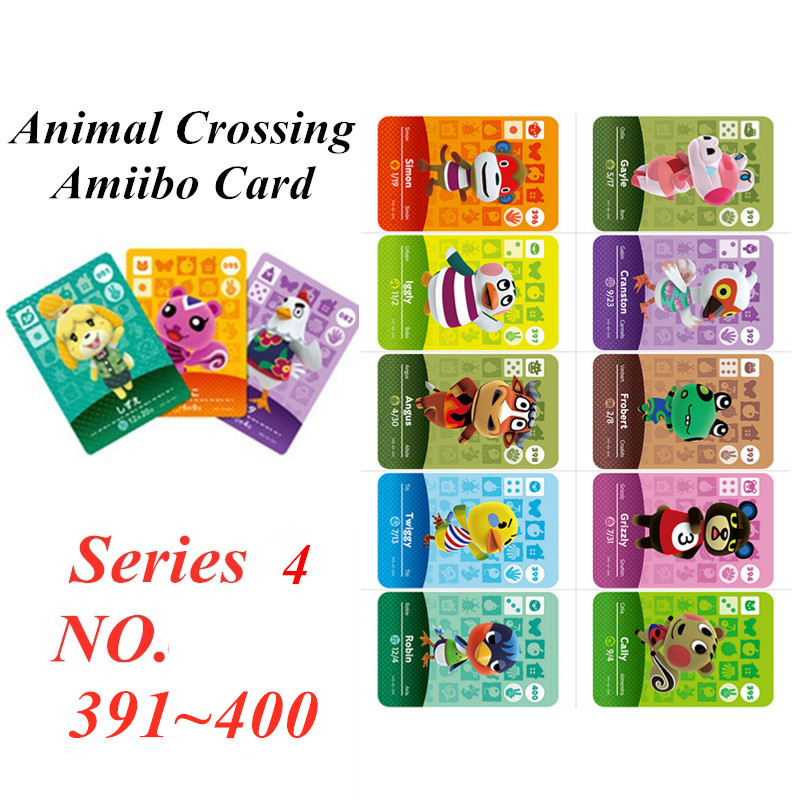 Animal Crossing Card Amiibo NFC Card For Nintendo Switch NS Games Series 4  (391 To 400)
