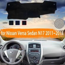 Couvercle de tableau de bord de voiture pour Nissan Versa Sedan N17 Almera Sunny lato 2011 ~ 2018, tapis de protection pour éviter la lumière, accessoires de voiture
