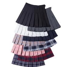 Plaid Skirts Uniforms Harajuku Chic Girls Preppy-Style High-Waist Fashion Student Ladies