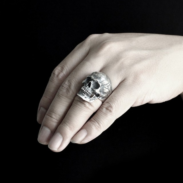 STAINLESS STEEL SKULL HEAD RINGS