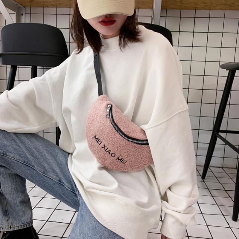 Wool Belt Bag Women Fashion Designer Pack Belt Chest Bags Crossbody Phone Waist Female Shoulder Messenger Packs