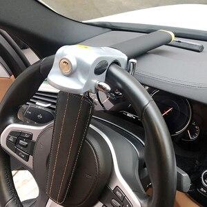 Image 3 - Evrensel araba direksiyon kilidi katlanabilir anti hırsızlık güvenlik araba kilitleri otomatik direksiyon kilidi Anti hırsızlık koruma T kilitleri