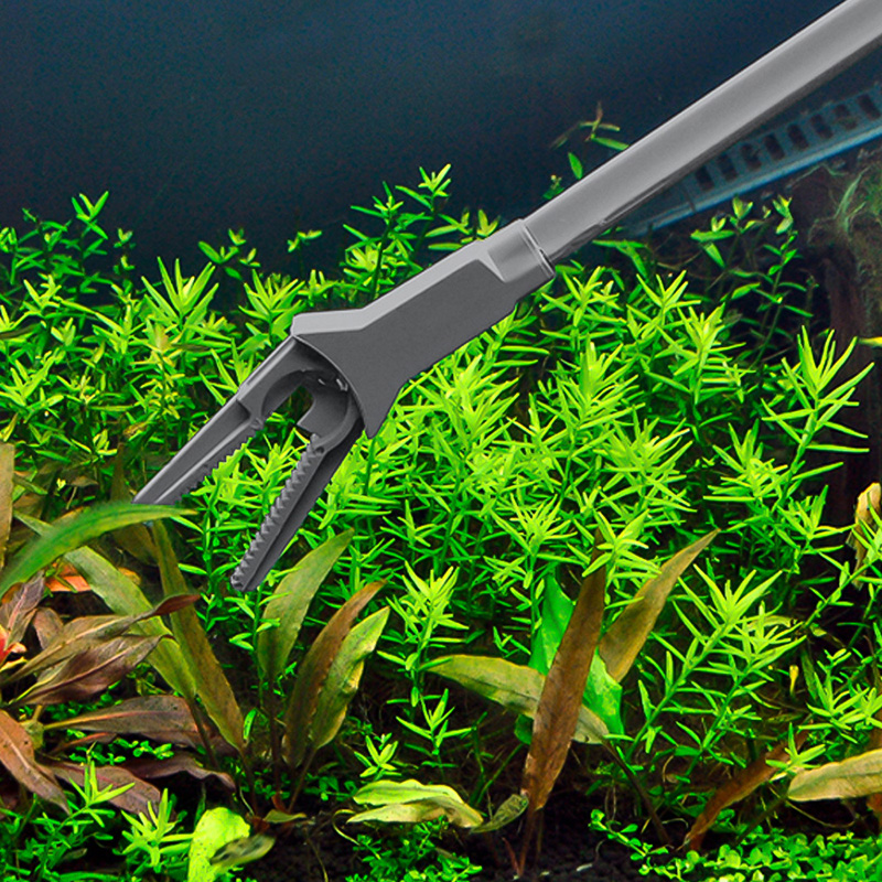 Image 3 - Pince réservoir de poisson pince à épiler droite pince de nettoyage Aquarium pince de taille de plante pince en plastique outil de nettoyage universel 50CMOutils de nettoyage   -