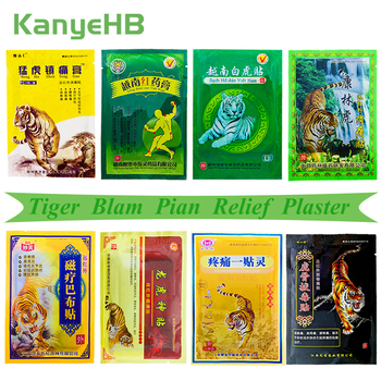 8Pcs/bag Of 8 Different Types Tiger Balm Pain Relief Patches Back Muscle Arthritis 100% Original Natural Herbal Medical Plaster new thai herbal massage chamois balm oil relief paralysis muscle pain tinnitus colds free shipping
