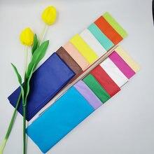 10 folhas/saco 55*66cm tecido papel flores presente diy artesanal artesanato embalagem festa de casamento festivo casa decoração suprimentos