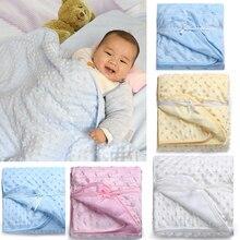 2021 New winter baby blankets Fleece newborn baby sleeping blanket Factory Sales 75*100cm