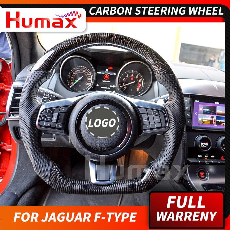 Para Jaguar f-type personalizado volante de fibra de carbono reemplazo Universal para Jaguar carbono accesorios volante