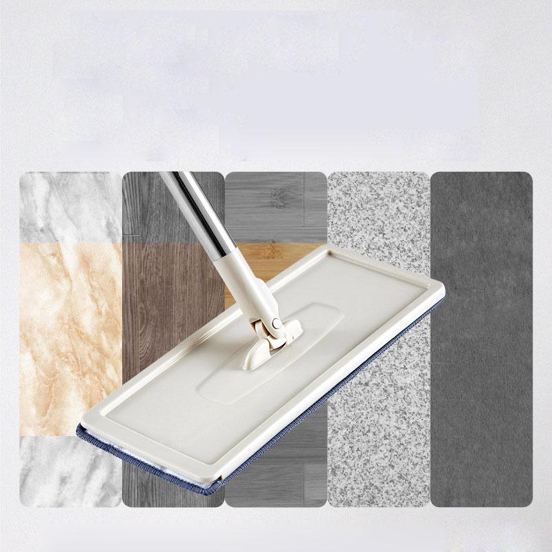 Floor Mop Microfiber Squeeze Mops Wet Mop with Bucket Cloth Squeeze Cleaning Bathroom Mop For Wash Floor Home Kitchen Cleaner