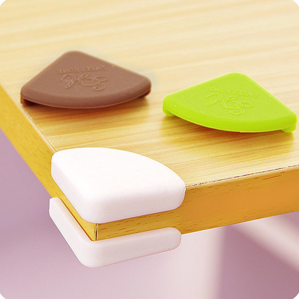 Kuulee 4pcs Baby Safety Corner Silicone Corner Protector Children Furniture Table Brim Guard Safety Protection Anti-collision