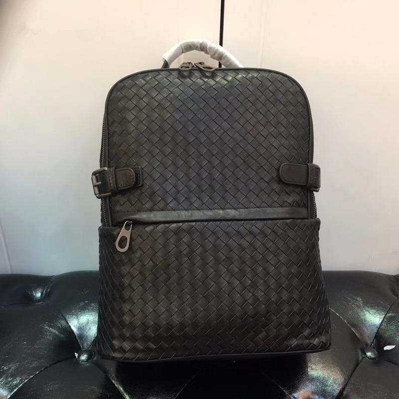 Kaisiludi duplex couro tecido bolsa de viagem camada superior pneu mochila de couro senhoras casal pacote sacos de computador volumoso
