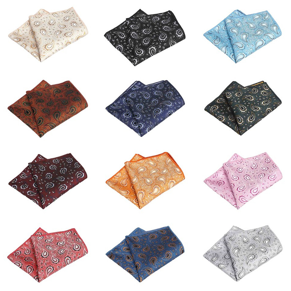 Men's Classic Paisley Handkerchief Hanky Wedding Party High Grade Pocket Square BWTQN0317