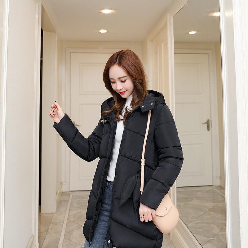 [EAM] 2019 Новинка весны с капюшоном одноцветное цвет светло серый утолщение большой размеры Vent теплый жакет, женский пиджак Мода прилив JE02002 - 2