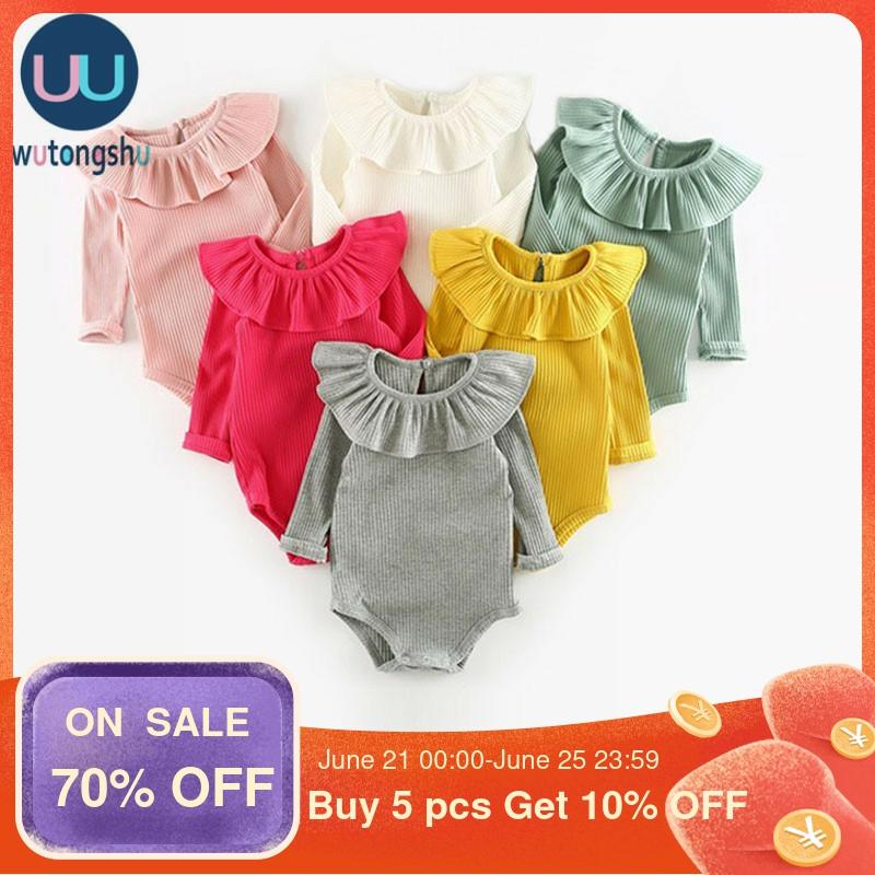 Cute Baby Girl Clothes Summer Newborn Baby Clothing For Girls Long Sleeve Kids Boys Jumpsuit Knit Baby Girls Rompers Spring