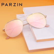 PARZIN New Pilot Sunglasses Women Driving Alloy Frame UV400