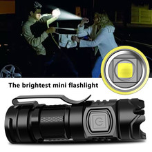 Die Hellsten Mini Led Taschenlampe USB Aufladbare Super Helle Taschenlampe Hohe Qualität Aluminium Wasserdichte Selbstverteidigung Laterne 10W