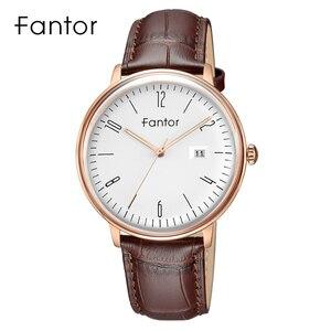 Image 4 - Часы Fantor Мужские кварцевые деловые, брендовые Роскошные модные наручные, с кожаным ремешком, водонепроницаемые