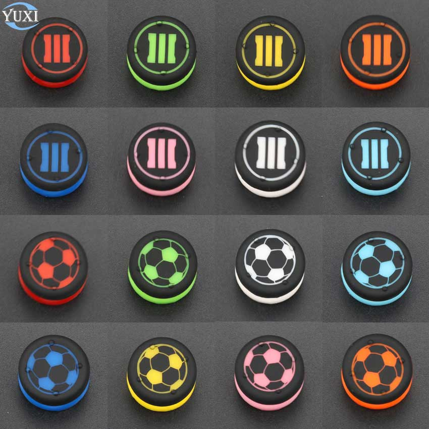 YuXi 1Piece New Analog Extenders Grips Stick Joystick Cap Grips Rocker Cap For Playstation 4 For PS4 Controller