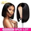 WholeSale hair ALI BFF 13*4 Lace Front Human Hair bob Wigs Brazilian 4*4 Straight bob Wig For Black Women Remy Bob Wig Wholesale