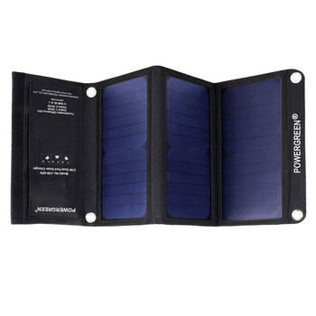 цена на 5V 21W Outdoor Mobile Phone Solar Energy Charger Dual USB Power Bank Portable Solar Panel Charger