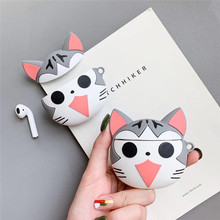 For AirPod 2 Case 3D Cute Cat Cartoon Soft Silicone Wireless Bluetooth Earphone Cases Apple Airpods Cover Funda
