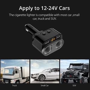 Image 5 - C47 Car Charger High Power One Into Two Cigarette Lighter Car Charger Type C Dual USB Car Charger  Dropshipping