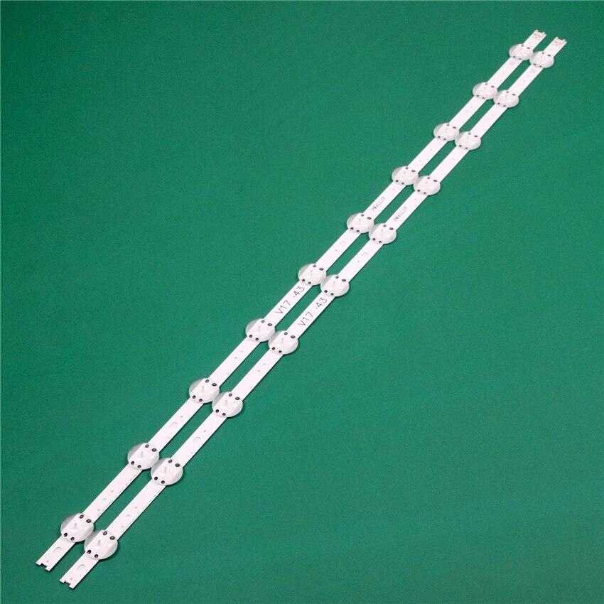Tvs led faixa array para lg 43uj6500-cb 43uj6500-cd 43uj6500-jd 43uj6500-ub led barra backlight faixa linha LC430DGG-FKM3 régua fitas