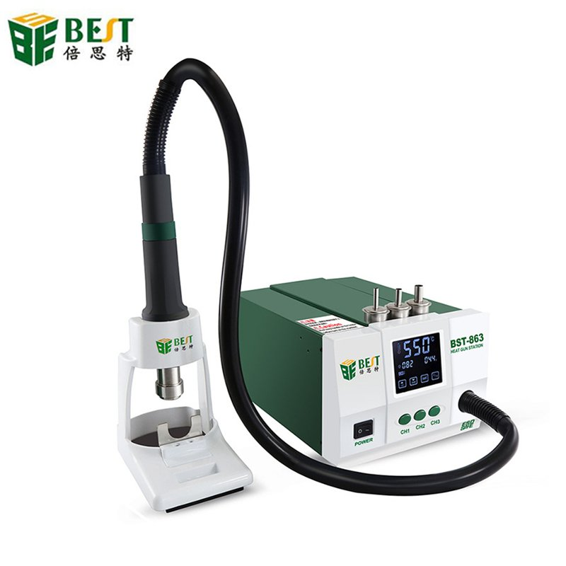 BEST BST-863 1200W 220V/110V Intelligent LCD Touch Screen Heat Air SMD Rework Station 50/60Hz LCD Screen