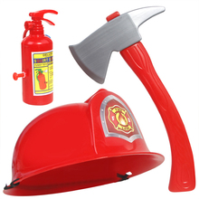 Toy Firefighter-Accessories Fire-Hat Fire-Extinguisher House-Toys Cosplay 3pcs Set-Props