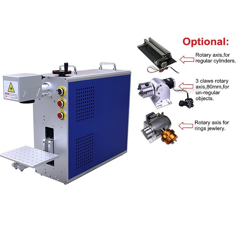 Mini All In One Fiber Laser Nameplate Marking Machine Super-laser Max Raycus Fiber Laser Metal Laser Engraver Engraving Machine
