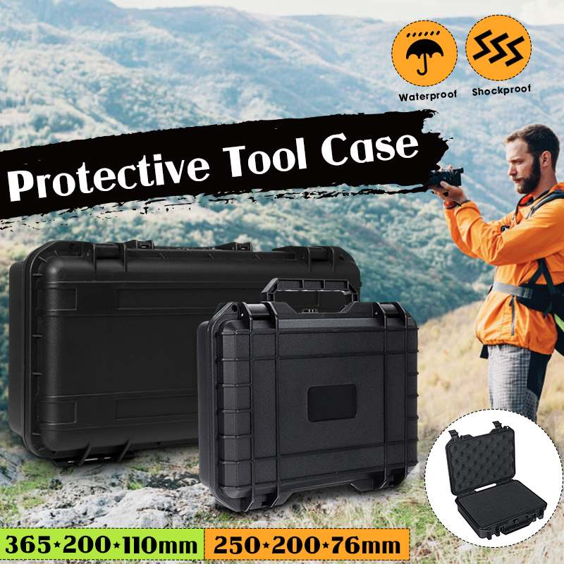 3 Size Protective Safety Instrument Tool Box Shockproof Storage Toolbox Sealed Tool Case Impact Resistant Suitcase