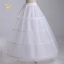 새로운 도매 와이드 4 농구 1 레이어 tulle 페티코트 볼 가운 crinoline underskirt 웨딩 액세서리 jupon mariage cw01299