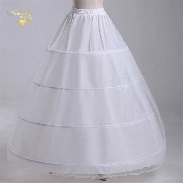 Nowa hurtownia szeroki 4 obręcze 1 warstwa tiul halka do sukni balowej krynolina podkoszulek akcesoria ślubne Jupon Mariage CW01299