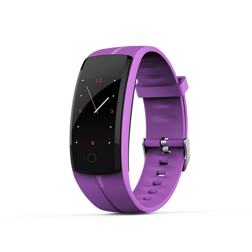 Couples QS-100 Smart Bracelet Heart Rate Monitor Sports Fitness Wristband Real-time Tracker Waterproof Smart Wearable Watch