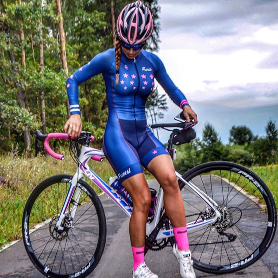 2019 Pro team triathlon cycling suit long sleeve Jersey Skinsuit jumpsuit