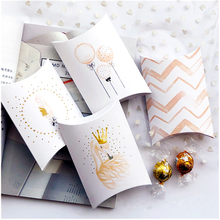 10pcs Kraft Paper Box Pillow Shape Candy Box Feather Swan Flamingo Gift Box Packaging For Birthday Wedding Party Decor Favor Box