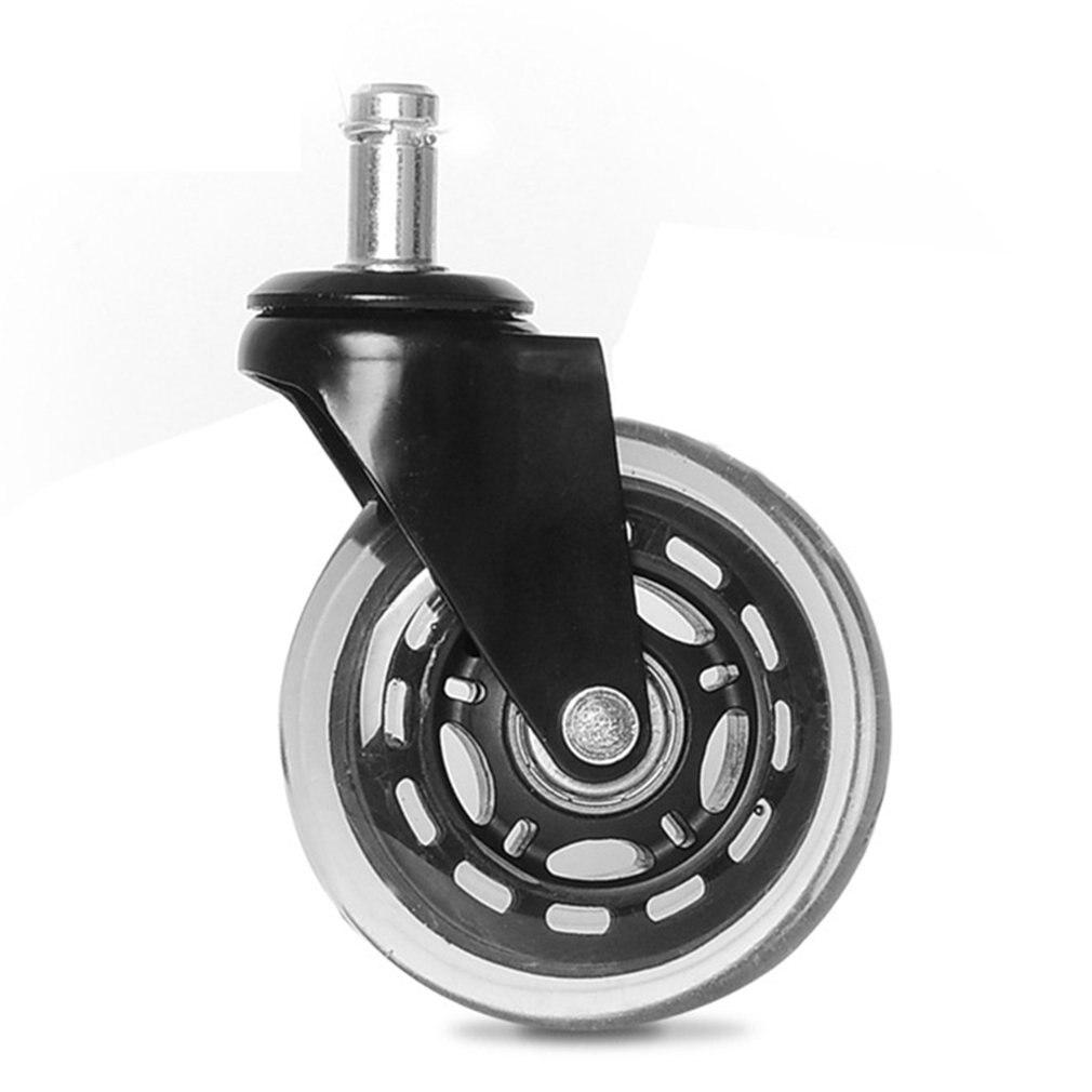 2,5 дюйма/3 дюйма PU Универсальный стопорный ролик, черный Сильный Подшипник нагрузки, прозрачное колесо, офисное кресло, бесшумное колесо