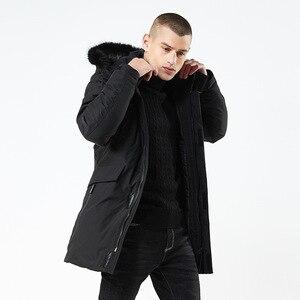 Image 2 - 2020 kış ceket erkekler uzun kürk yaka kapüşonlu Parka erkekler için kalın sıcak ordu askeri taktik rüzgar geçirmez giyim spor ceket