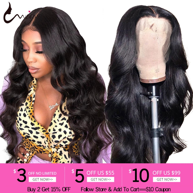 Uwigs Peruvian Body Wave Wig 13x4 Lace Front Human Hair Wigs Pre Plucked 180 Density Remy Hair Wigs For Black Women 8-26 Inch